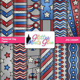 Memorial Day Scrapbook Paper: Patriotic Backgrounds {Glitter Meets Glue}