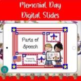 Memorial Day Parts of Speech Google Slides