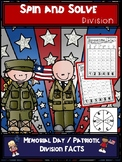 Memorial Day | Patriotic Division Spin and Solve Math Centers