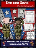 Memorial Day | Patriotic Multiplication Spin and Solve Math Centers
