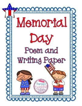 Memorial Day Poem and Writing Paper