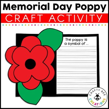 Memorial Day Poppy Cut and Paste