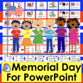 Memorial Day Activities: PowerPoint - 3 Reading Levels + Vocab & 16 Songs/Poems