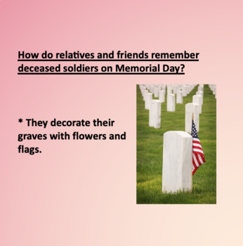 Memorial Day Powerpoint or ESL Students
