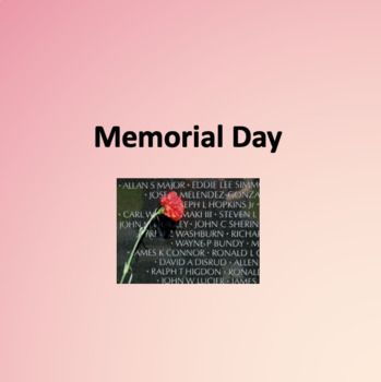 Memorial Day Powerpoint for ESL Students