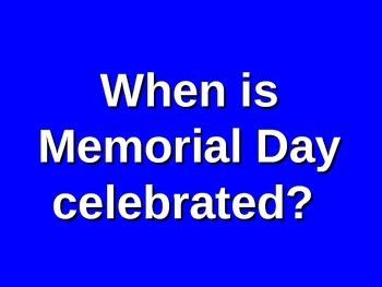 Memorial Day Presentation