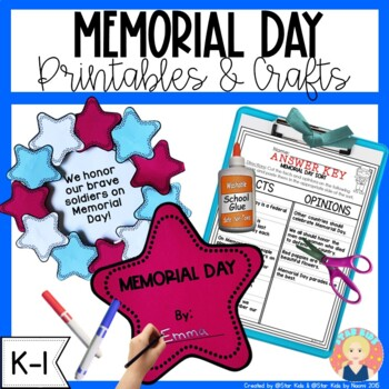 Memorial Day Printables and Activities for Kindergarten and First Grade