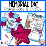 Memorial Day Printables and Activities for Kindergarten an