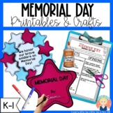 Memorial Day Printables and Activities for Kindergarten an