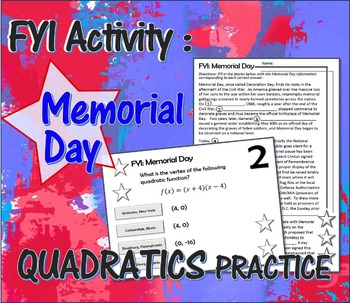 Memorial Day Quadratics