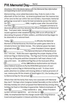 Memorial Day Quadratics
