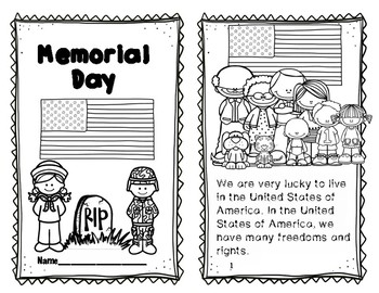 Memorial Day Reader, Comprehension and Pop-up Card activities