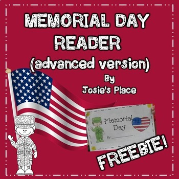 Memorial Day Reader FREEBIE! (advanced version)