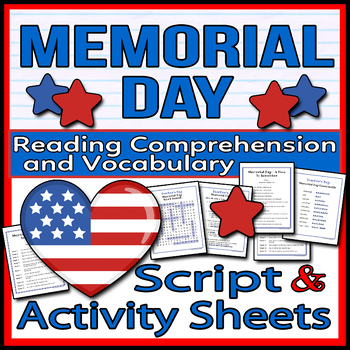 Memorial Day - Readers Theater Holiday Script, Reading & Activity Packet