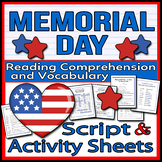 Memorial Day - Readers Theater Holiday Script, Reading & A