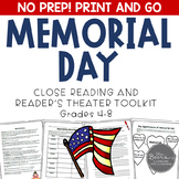 Memorial Day Reader's Theater and Close Reading Toolkit for Grades 4-8