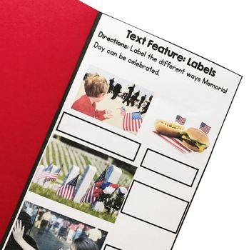 Memorial Day Reading Comprehension Flip Book Activities- 2nd & 3rd grade