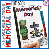 Memorial Day Reading Comprehension Flip Book Activities- 2nd & 3rd grade