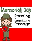 Memorial Day Reading Comprehension Passage & Questions wit