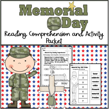 Memorial Day Reading Comprehension and Activity Packet
