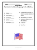 Memorial Day Reading Passage and Activities, Gr 2-3