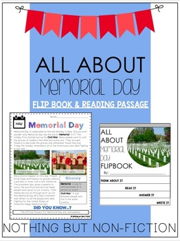 Memorial Day Reading Passage and Flipbook