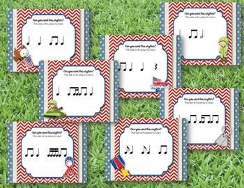 Memorial Day - Remembering Rhythms! Interactive Practice BUNDLE - 7 GAMES!