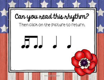 Memorial Day - Remembering Rhythms! Interactive Practice Tika-ti