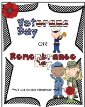 Memorial Day / Remembrance Day Activity Pack