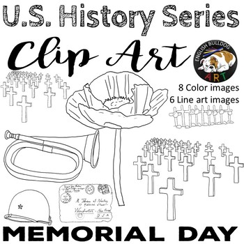 Memorial Day Remembrance Day World War 1 World War I Clip Art Set 5