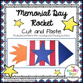 Memorial Day Rocket Cut and Paste