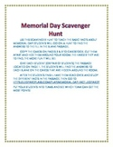 Memorial Day Scavenger Hunt Activity