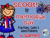 Memorial Day Scoot!  Math Activities