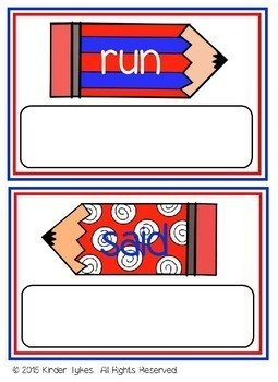 Memorial Day Sight Word Game for Pre-Primer