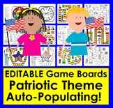 Memorial Day Sight Words Game Boards - First 100 Dolch