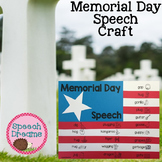 Memorial Day Speech Therapy Craft   Articulation Language Activity