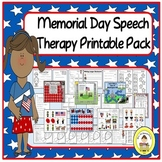 Memorial Day Speech Therapy Printable Pack