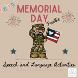 Memorial Day Speech and Language Activities