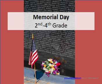 Memorial Day Spelling & Vocabulary (3rd to 5th grade)