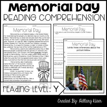 Memorial Day Task Card