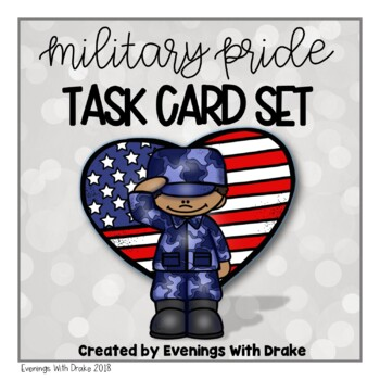 Memorial Day, Veterans Day, and Military Task Card Set
