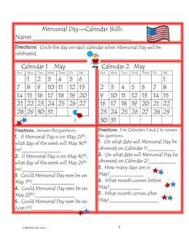 U.S.A.---The U.S. Flag, Memorial Day and The Pledge of Allegiance Mini Unit