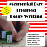 Memorial Day Themed Essay Writing, w Rubrics & Printables