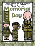 Memorial Day Adjective or Adverb? Task Cards, Recording Sheets and Posters