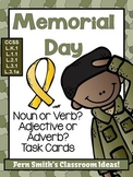 Noun or Verb? Adjective or Adverb? Memorial Day Task Card Bundle