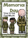Memorial Day Time to the Five Minute Go Fish, Old Maid, Concentration Freebie