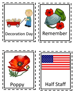Memorial Day Themed Write the Room