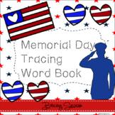 Memorial Day Tracing Word Book