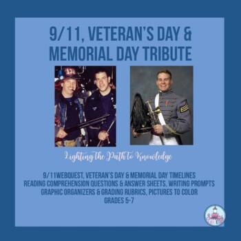 911, Veterans Day & Memorial Day Tribute for Grades 5-7