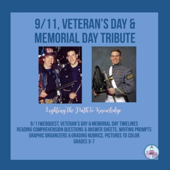 Memorial Day Tribute (No Prep) for Grades 4-7